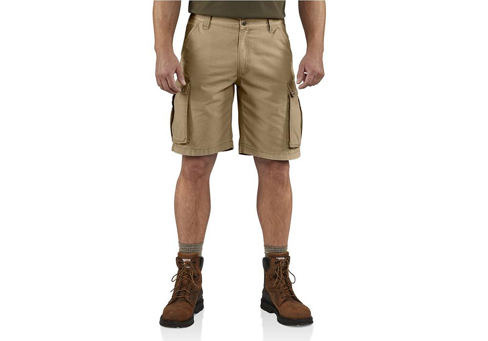 mens carhartt rugged cargo shorts khaki