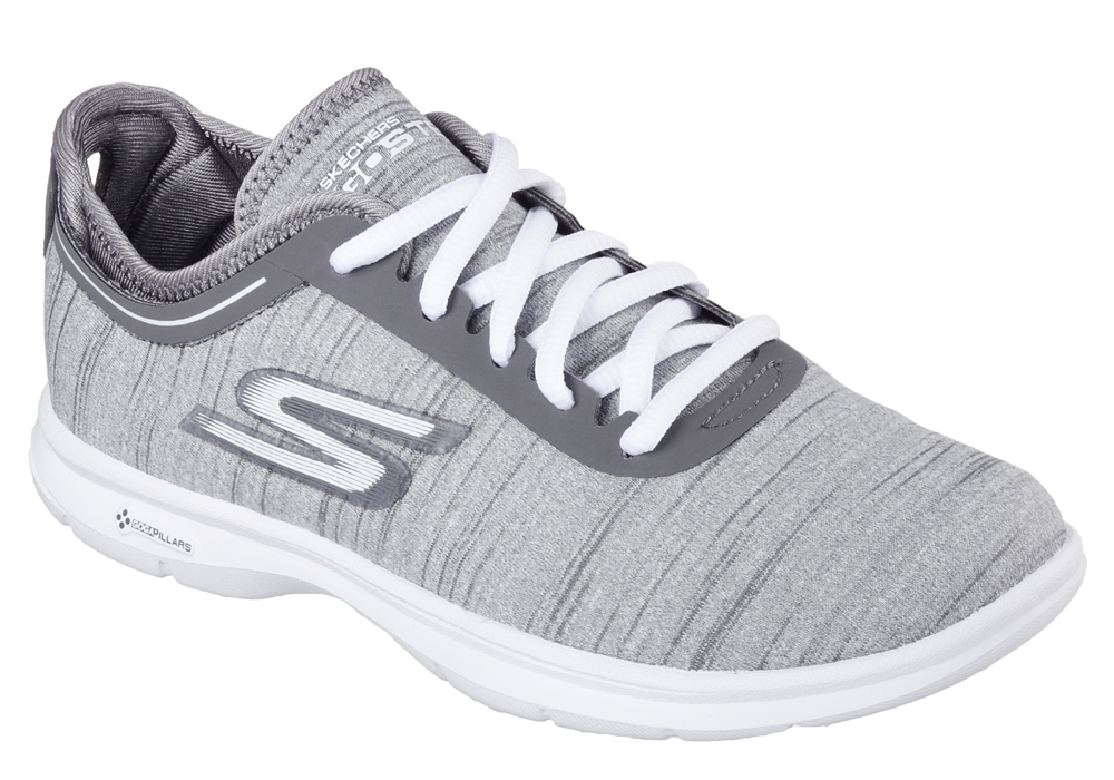 womens skechers go step vast gray
