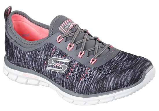 Womens Skechers Spt Active Glider Deep Space Slip On Gray
