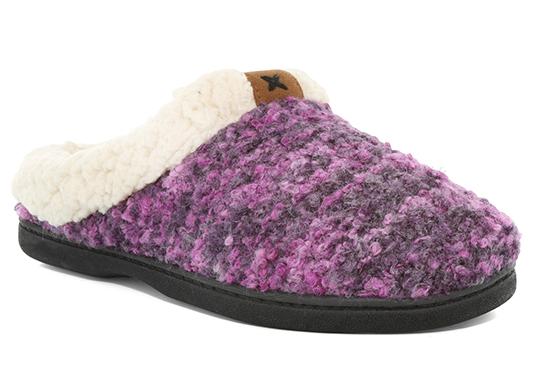 Womens Dearfoams Boucle Clog Purple
