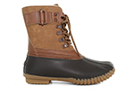 womens jbu ontario duck boot tan brown