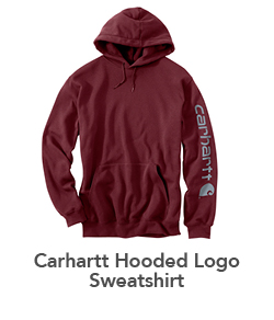 SUPER SHOES' 2018 HOLIDAY GIFT GUIDE Mens Carhartt Hooded Logo Sweatshirt Heather Port