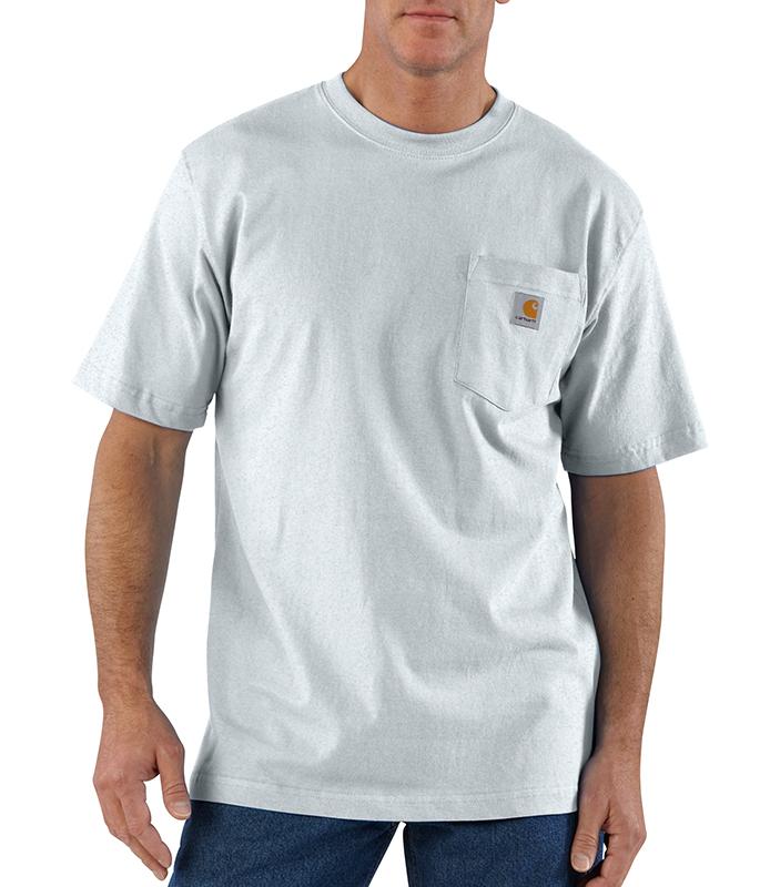 mens carhartt workwear pocket tee ash gray