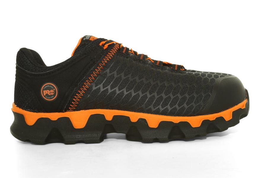 mens timberland pro alloy toe eh powertrain black orange