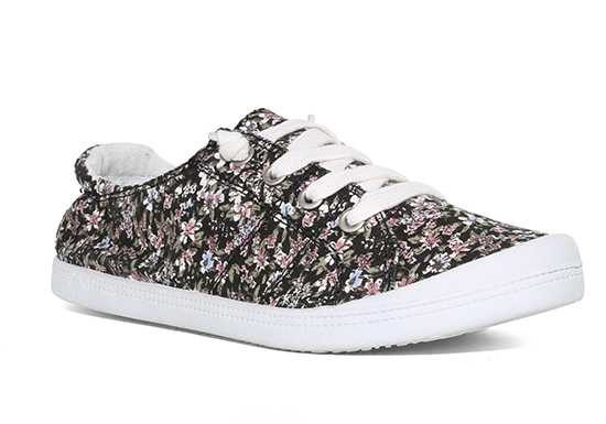 womens slip on jellypop dallas floral canvas