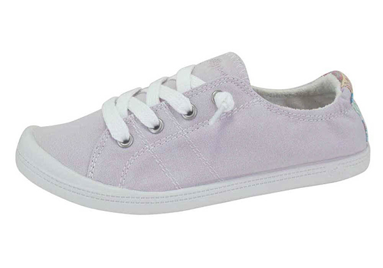 womens slip on jellypop dallas lilac canvas
