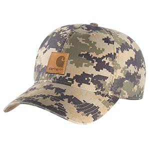 mens carhartt odessa cap camouflage