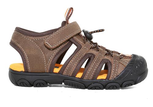boys brown closed toe sandal