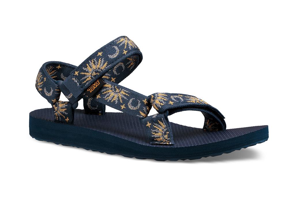 Womens Teva Original Universal Sandal Sun and Moon Blue
