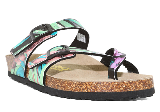 Womens Viking Tofino 2 Buckle Thong Tropical Palm footbed sandal