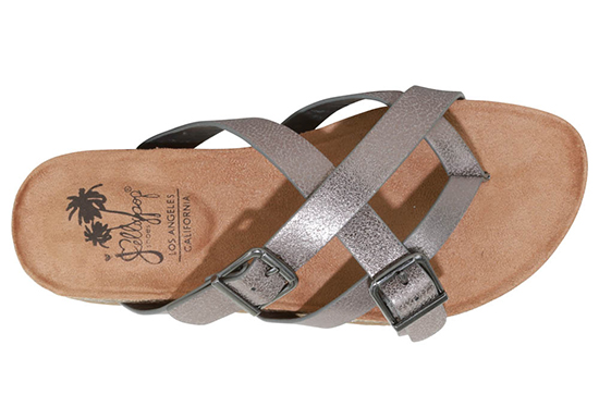 womens jellypop wales thong pewter footbed sandal