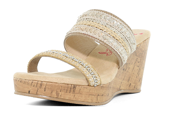 Womens Jellypop Moss Slide Gold