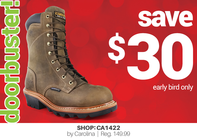 doorbuster! save $30 early bird only shop: CA1422 by Carolina   Reg. 149.99