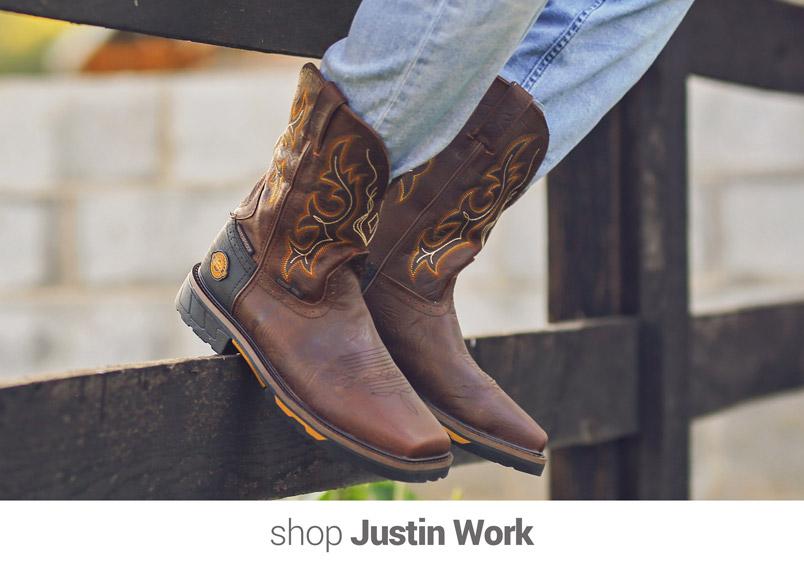 shop Justin Work