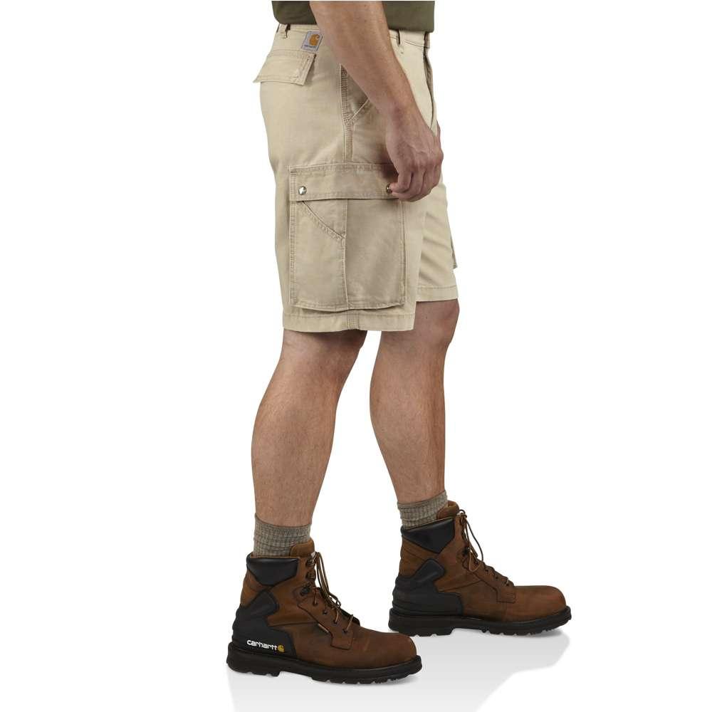 4d039a43c0 Mens Carhartt Rugged Cargo Shorts Tan in Brown