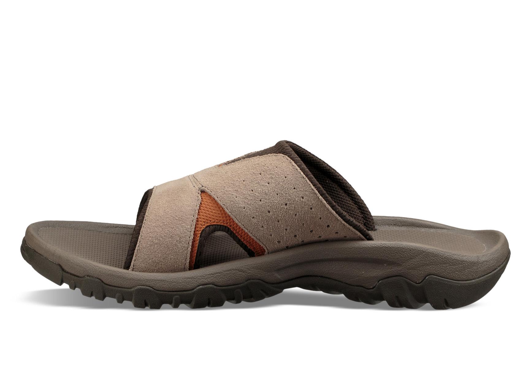 13d0030eedbe Mens Teva Katavi 2 Slide Sandal Walnut in Brown