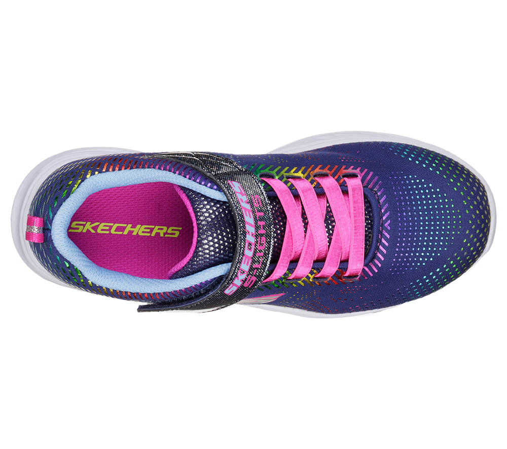 Girls Skechers Kids Litebeams Gleam N' Dream Navy Multi