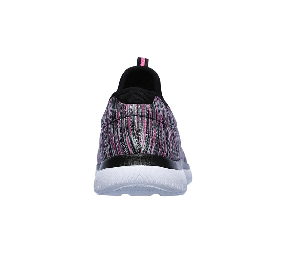 25b78c0b Womens Skechers Summits Light Dreaming Slip On Black/Pink in Black