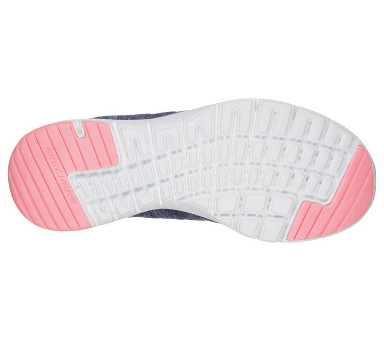 a9f576272b62 Womens Skechers Sport Flex Appeal 3.0 Insiders Navy Coral in Blue