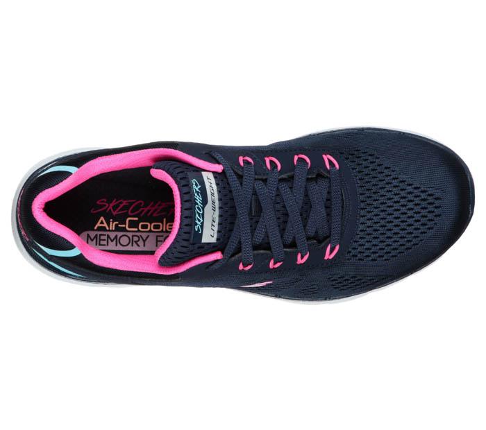 skechers flex appeal navy pink