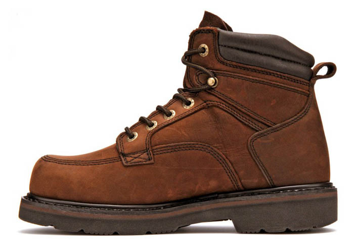 Mens Carolina 6 Quot Steel Toe Broad Toe Work Boot Brown