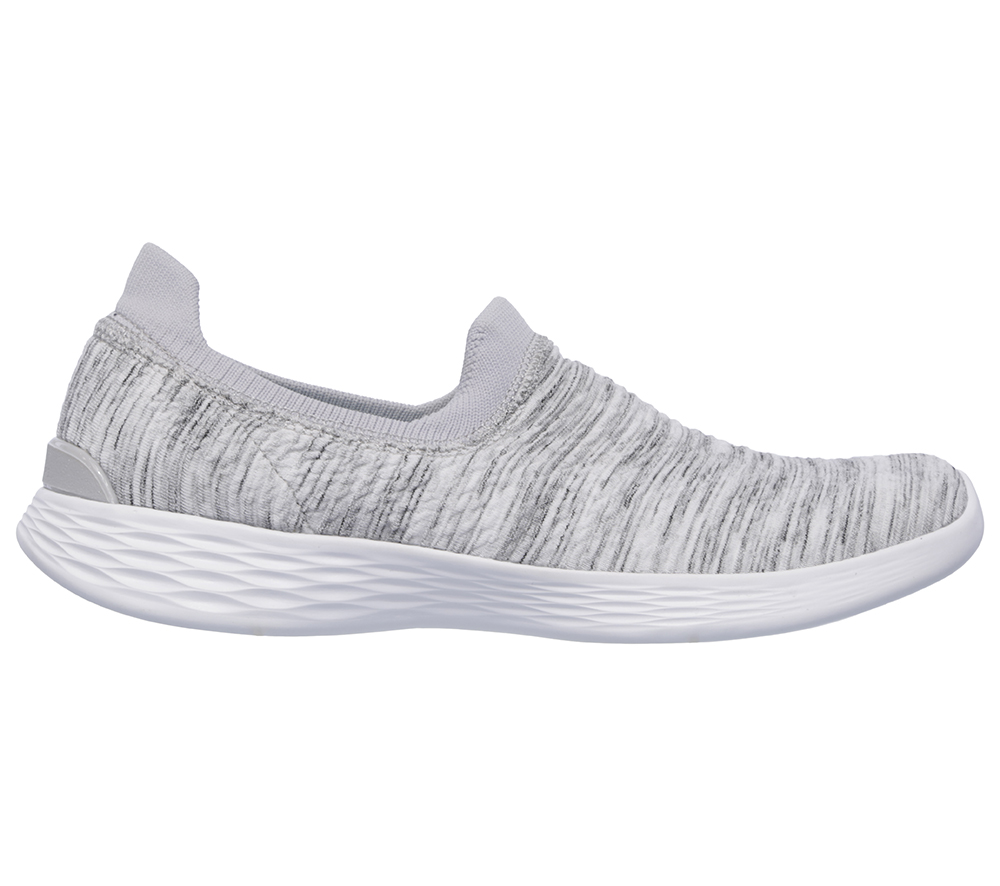 ab264954 Womens YOU by Skechers Define Grace Slip On White/Grey in White