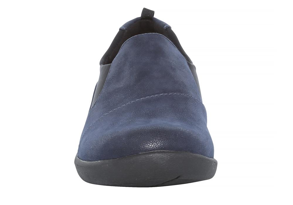 Clarks Sillian Paz Slip On Shoes Navy