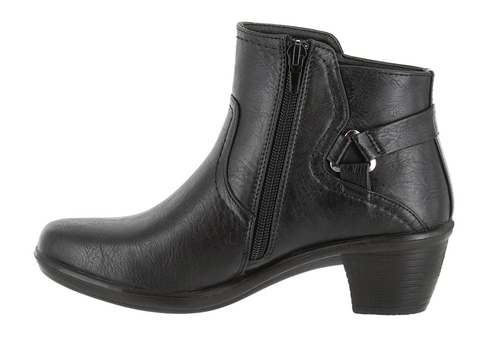Womens Easy Street Dawnta Side Zip Boot Black