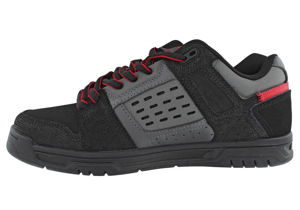 Mens > Athletic > Skate > Mens DC Shoes Stag Skate Black / Gray / Red