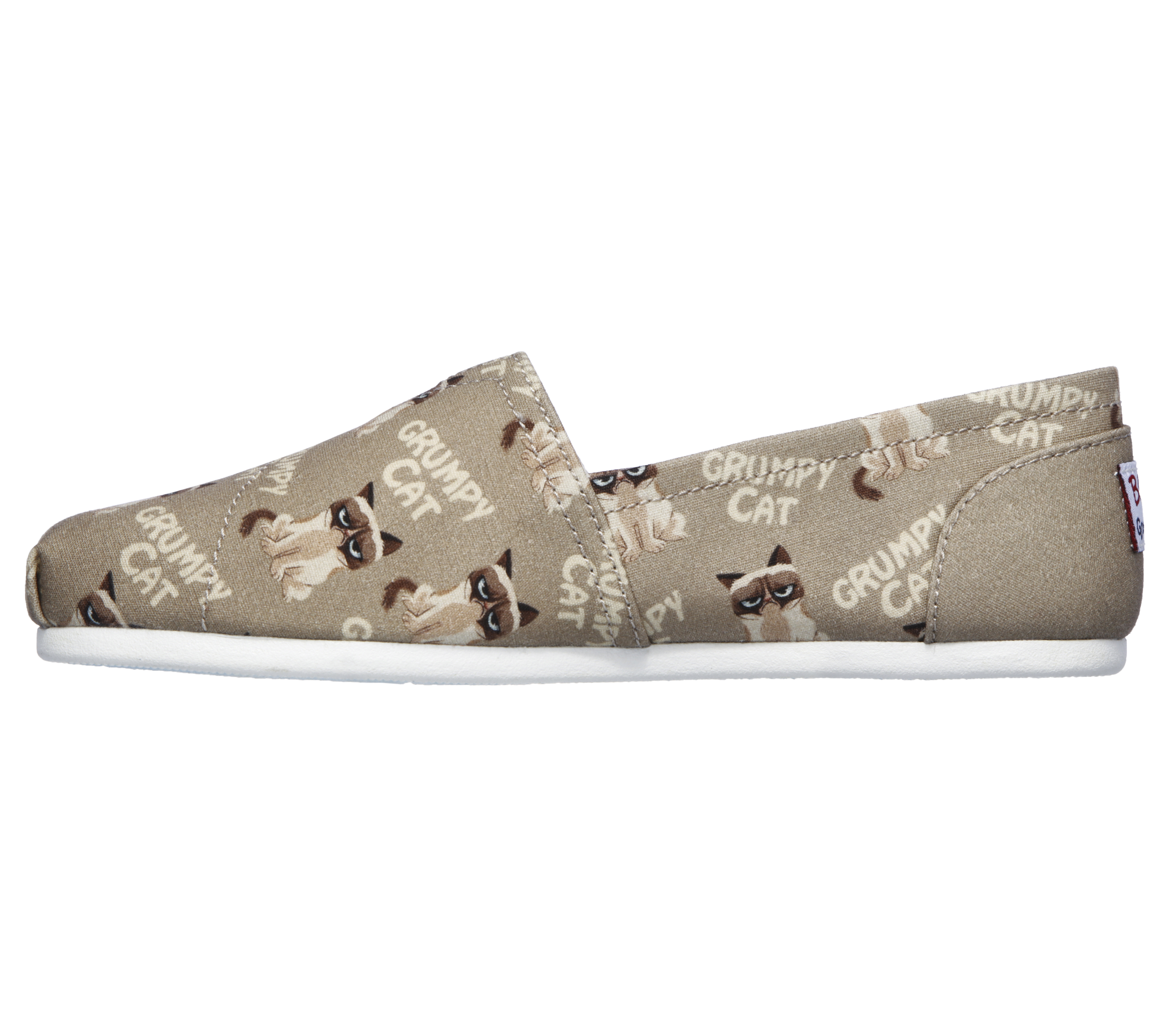 7ea659ce1a5e Womens Skechers BOBS Plush Crabby Kitty Taupe Multi in Tan