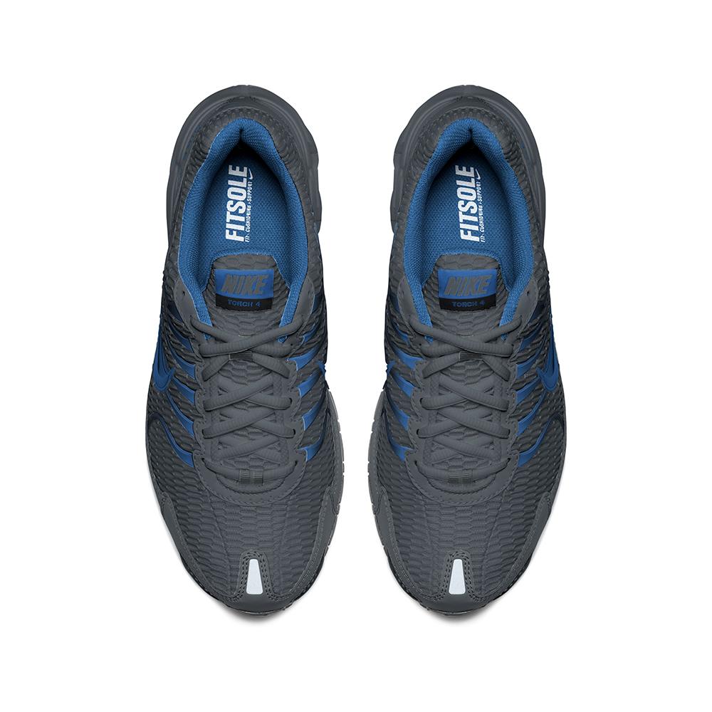Mens Nike Air Max Torch 4 Runner Gray/Blue