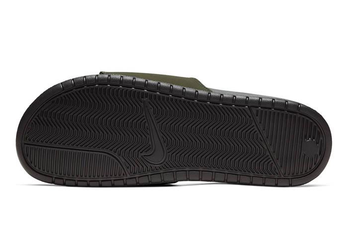 online store 537ec b1d3f Mens Nike Benassi JDI Slide Olive Black in Green