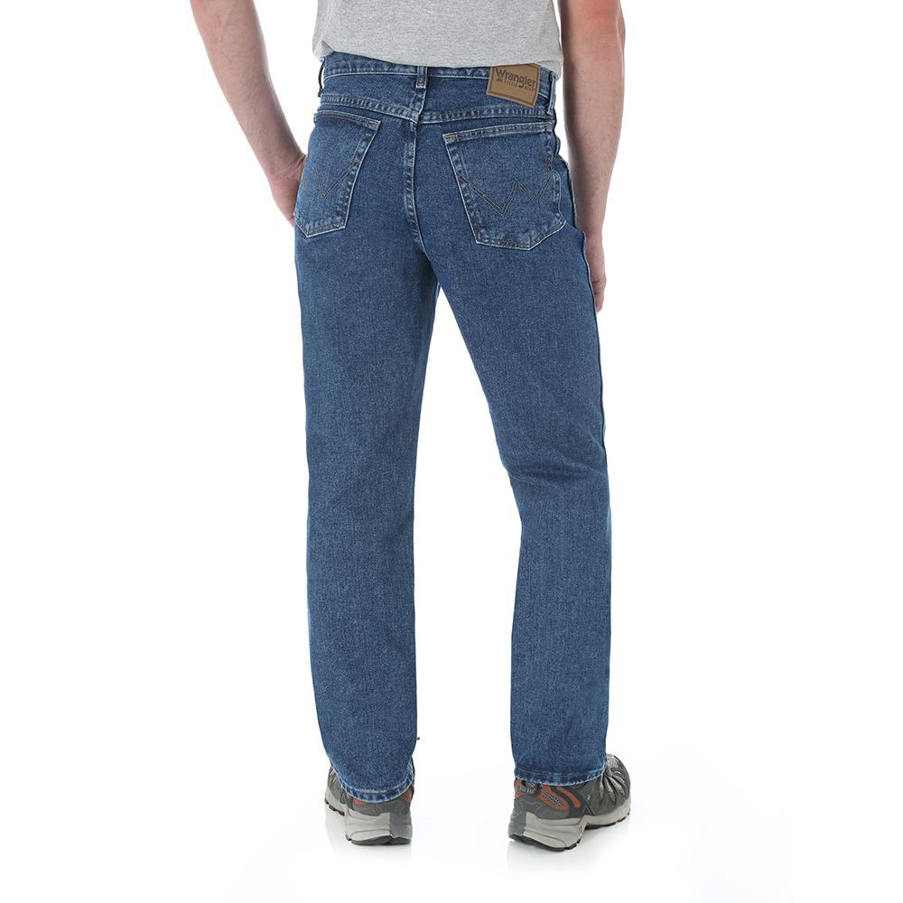Mens Wrangler Relaxed Boot Cut Jeans Denim