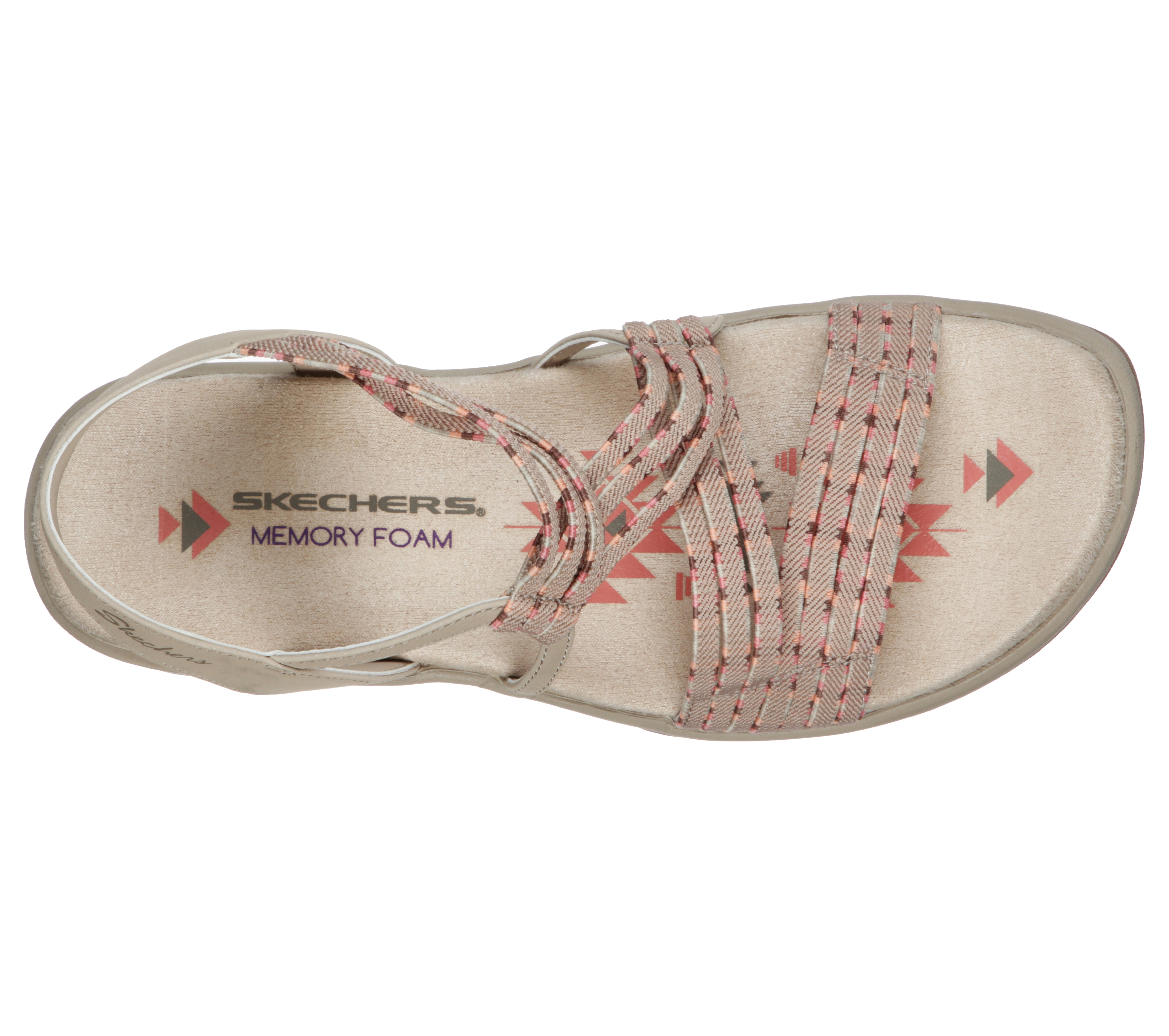 Boda juego Debe  Womens Skechers Reggae Slim Stretch Appeal Sling Taupe