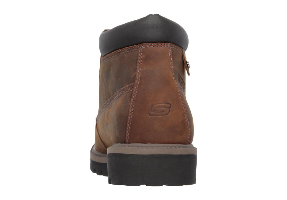 Mens Skechers Verdict Plain Toe Waterproof Boot Brown