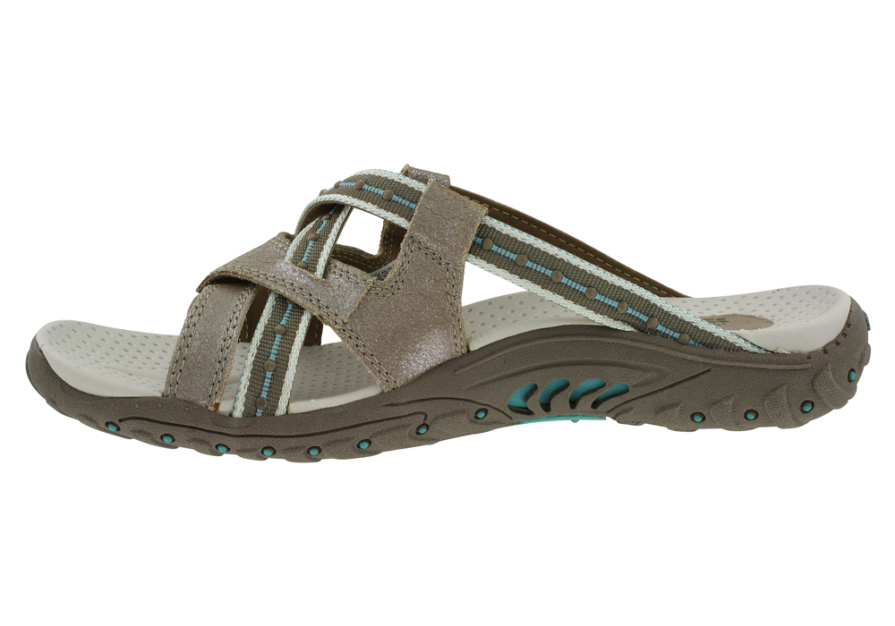 e3f9fbd88e7b Womens Skechers USA Reggae Soundstage Thong Taupe Turquoise in Brown