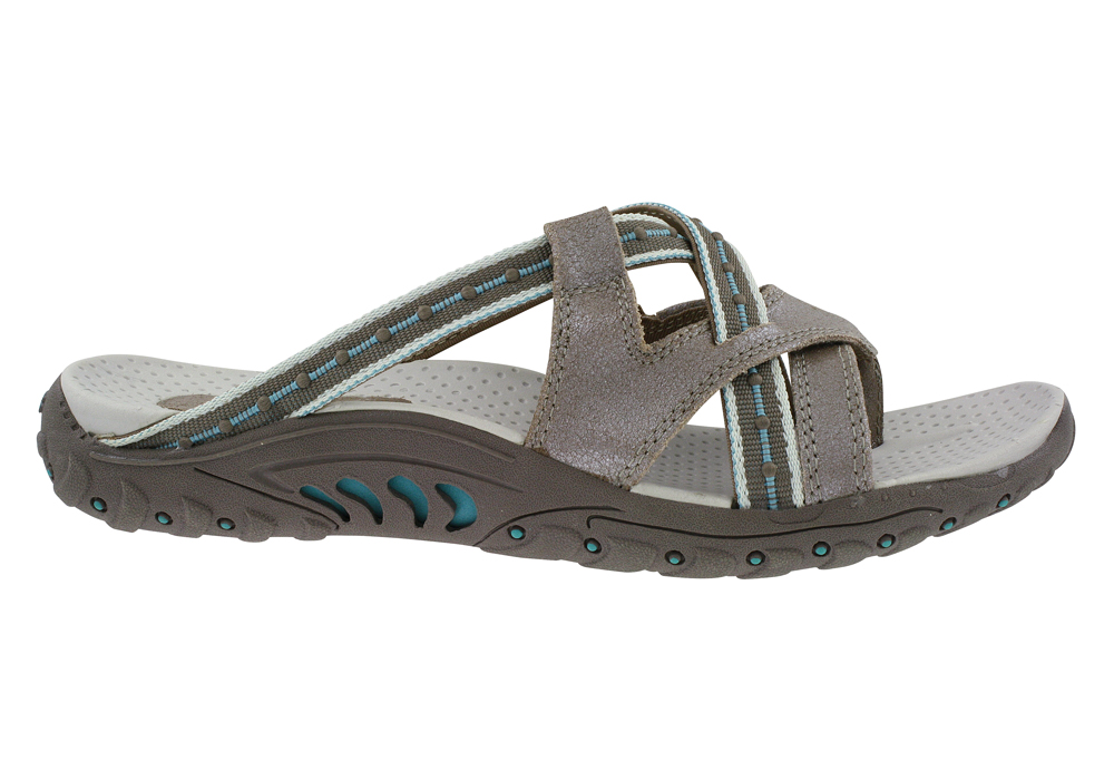 25bc15f38251 Womens Skechers USA Reggae Soundstage Thong Taupe Turquoise in Brown