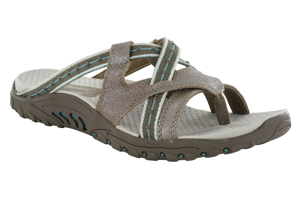 Skechers > Womens Skechers USA Reggae Soundstage Thong Taupe/Turquoise