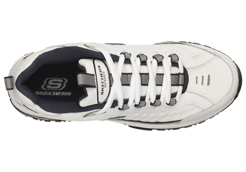 b2cae0c04e1d Mens Skechers Energy After Burn Athletic White   Navy in White