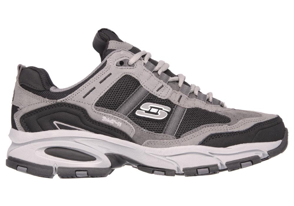 e20ddc9c468b Mens Skechers Vigor 2.0 Trait Charcoal   Black in Gray