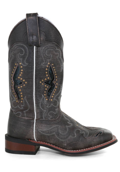 "Women/'s Laredo 11/"" Spellbound Square Toe Cowboy Boots w//SnakePrint Underlay 5660"