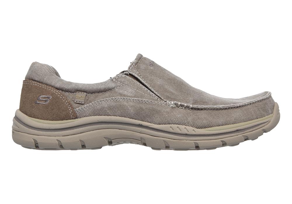 Mens Slip On Canvas Shoes Skechers