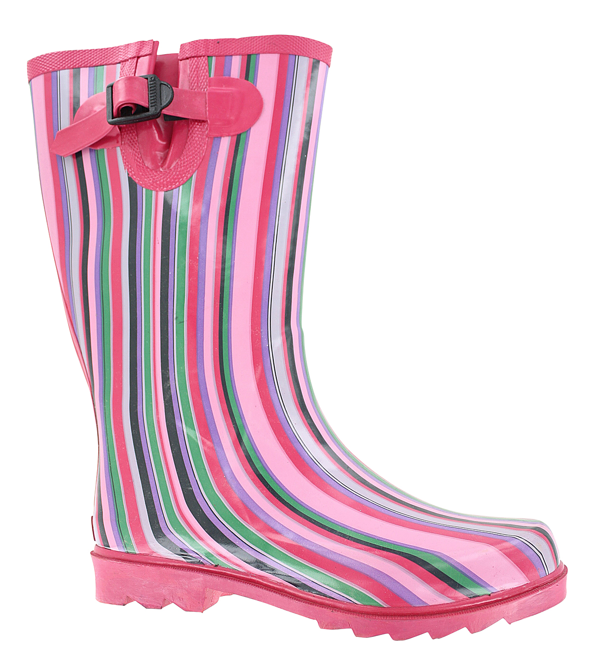 Womens Ranger Puddletons Rain Boot Pink Stripe