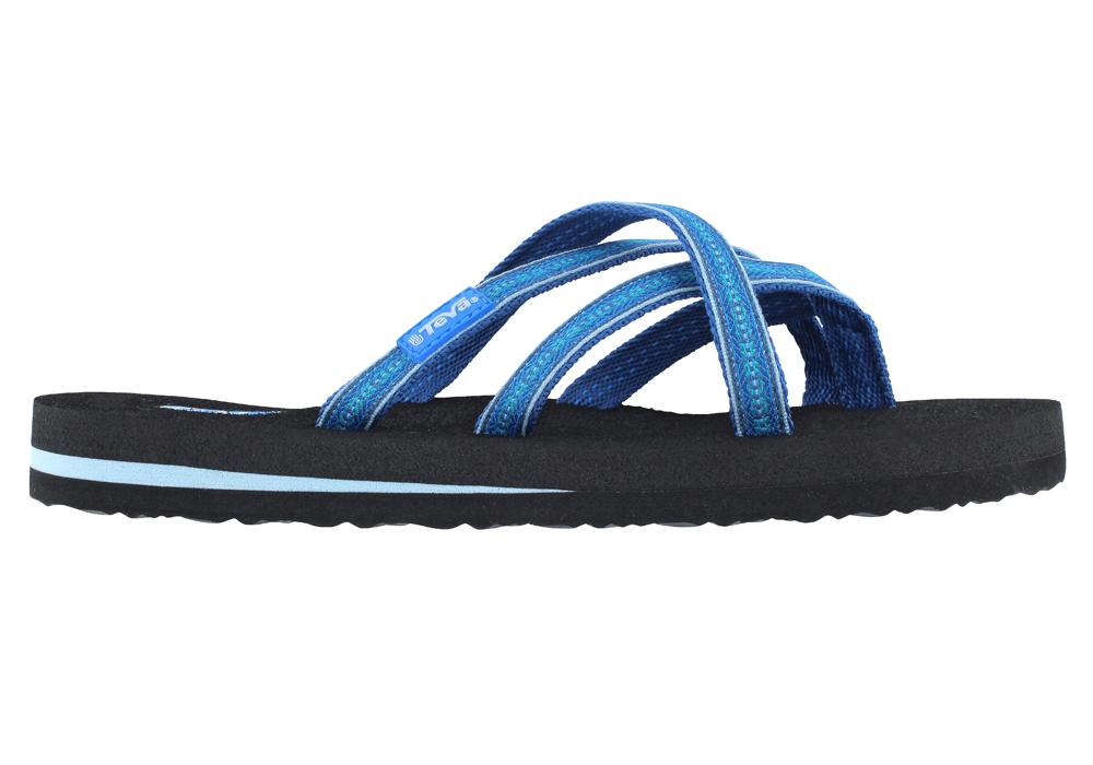 Womens Teva Olowahu Thong Pintado Blue in Blue