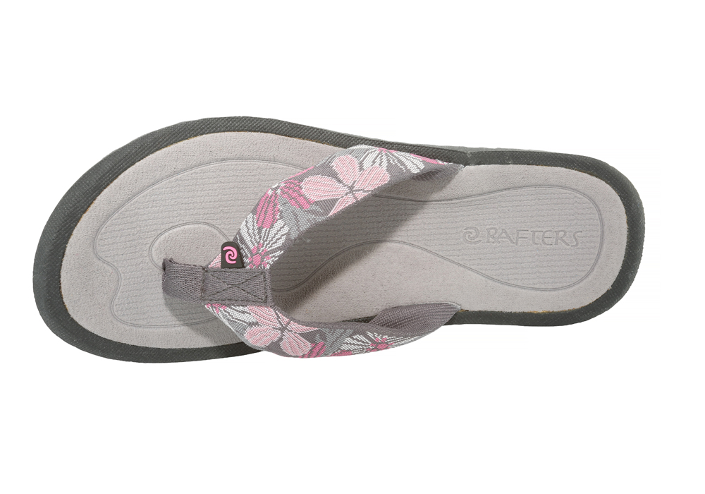 bb5883c878c18 Womens Rafters Breeze Tropicana Thong Grey Pink in Gray