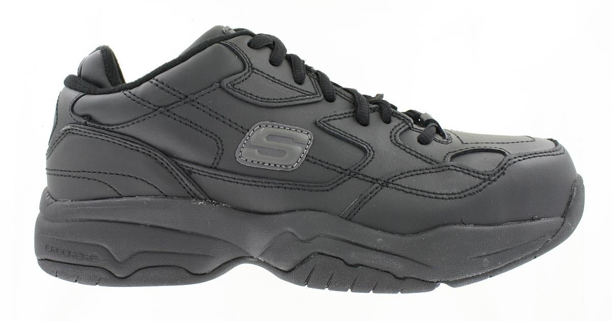 Womens Skechers Work Steel Toe Slip Resistant Felix Athletic Black
