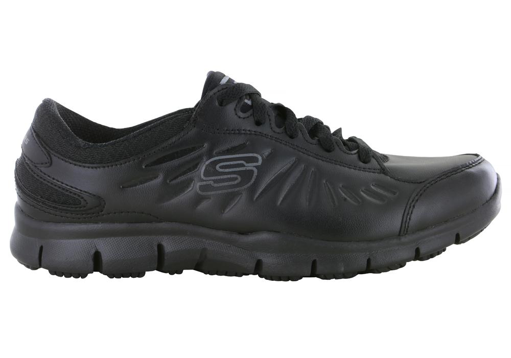 Skechers Espuma De Memoria Las Mujeres Zapato Negro 9E2Ixi3