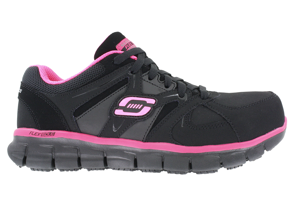 Womens Skechers Work Alloy Toe Slip Resistant Eh Sandlot