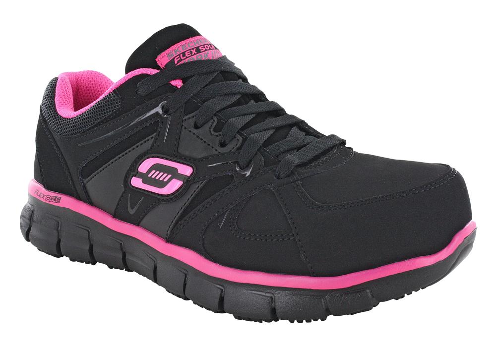 Womens Skechers Work Alloy Toe Slip