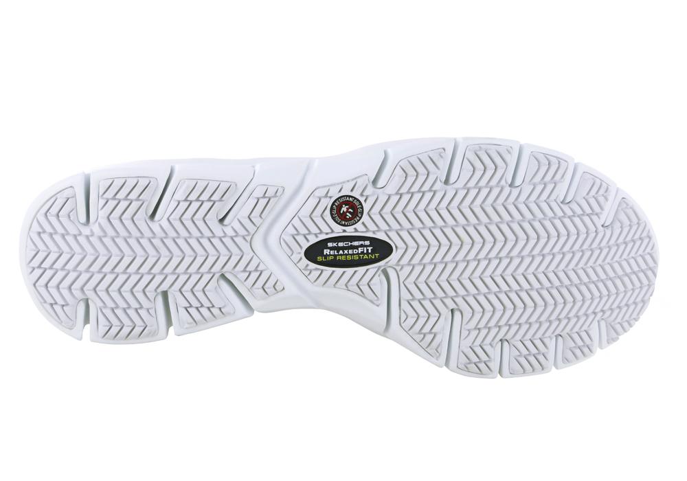 Womens Skechers Work Slip Resistant Memory Foam Athletic White